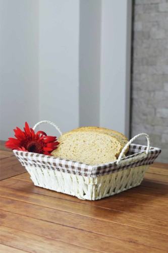 - Hasır - Oslo Ekmek Sepeti Kare