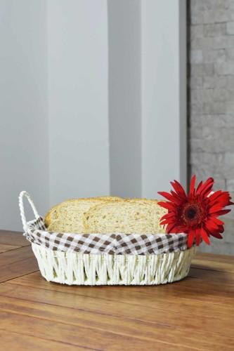 - Hasır - Oslo Ekmek Sepeti Oval