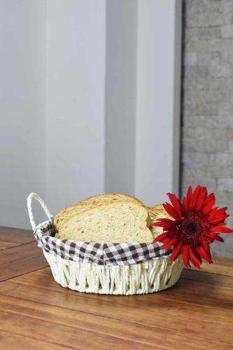 - Hasır - Oslo Ekmek Sepeti Yuvarlak