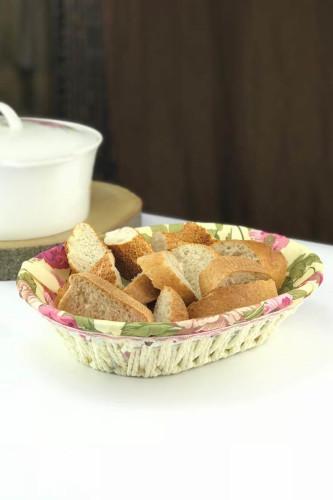 Sepetcibaba - Hasır Oval Ekmek Sepet