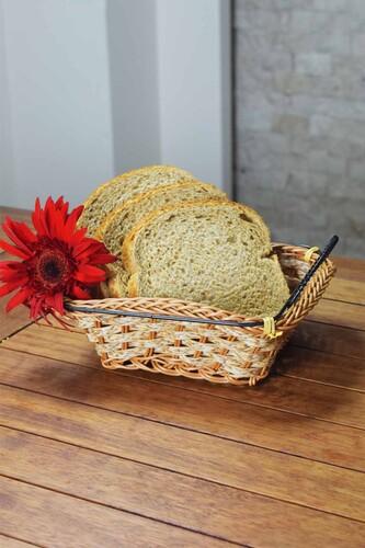 - Hasır - Pan Dikdörtgen Ekmek Sepeti