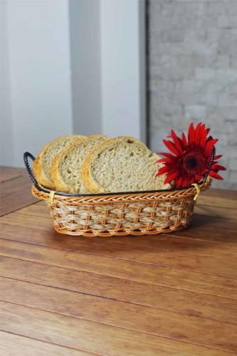 - Hasır - Pan Oval Ekmek Sepeti