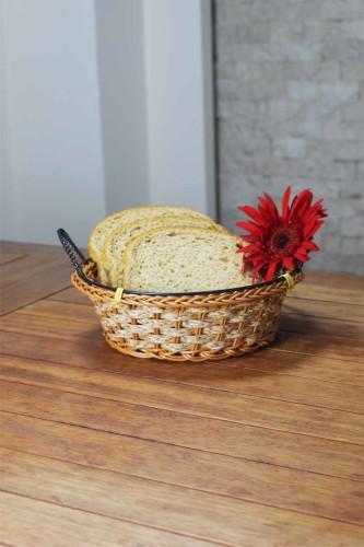 - Hasır - Pan Yuvarlak Ekmek Sepeti