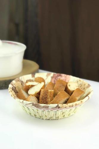 Sepetcibaba - Hasır Yuvarlak Ekmek Sepet