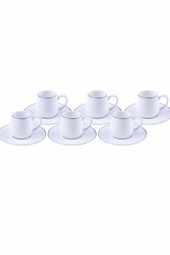 - Hassa - 6 Kişilik Kahve Fincan Takımı Altın Yaldızlı