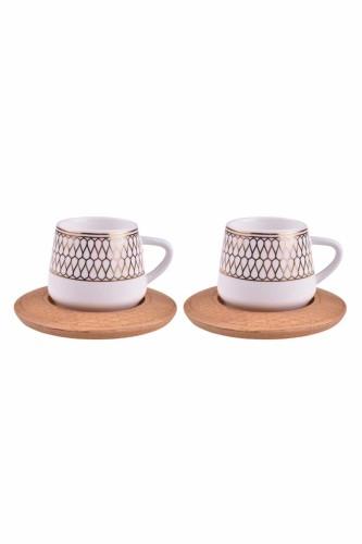 - Hattat - 2 Kişilik Kahve Takımı Desen Altlıklı