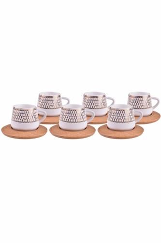 - Hattat – 6 Kişilik Kahve Takımı Altlıklı