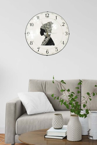 - Kadın Silüet Duvar Saati