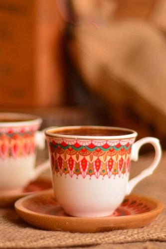 - Kallavi - 2 Kişilik Kahve Takımı Kırmızı