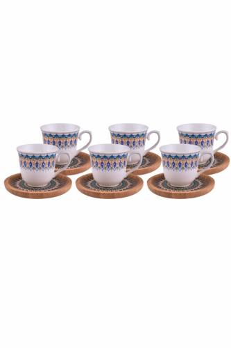 - Kallavi - 6 Kişilik Kahve Takımı Desenli