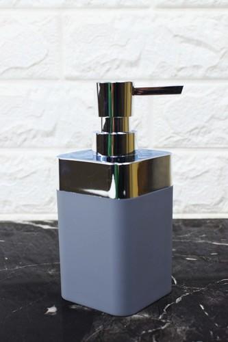 - Kare Akrilik Sıvı Sabunluk Gri