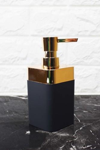 - Kare Akrilik Sıvı Sabunluk Siyah
