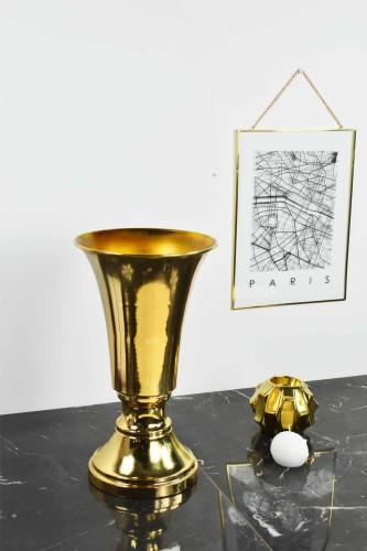 - Kupa Vazo Metal Gold
