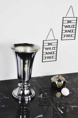 - Kupa Vazo Metal Gümüş
