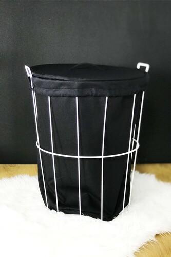 - Laundry - Metal Çamaşır Sepeti Beyaz