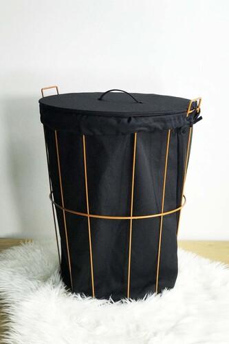 - Laundry - Metal Çamaşır Sepeti Kahverengi