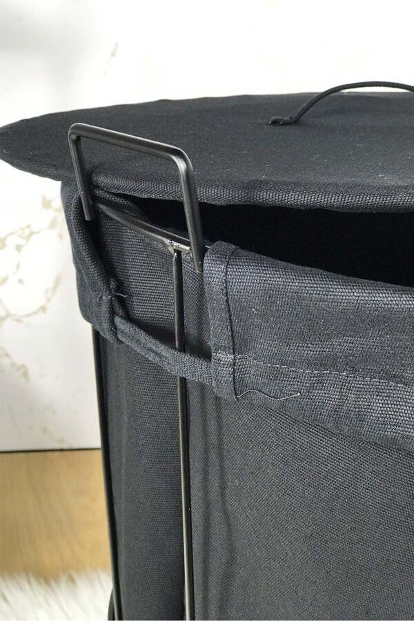 Laundry - Metal Çamaşır Sepeti Siyah