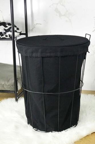 - Laundry - Metal Çamaşır Sepeti Siyah