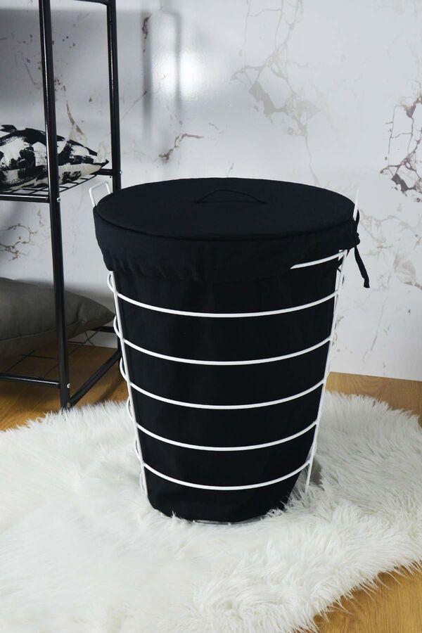 Linen - Metal Çamaşır Sepeti Beyaz