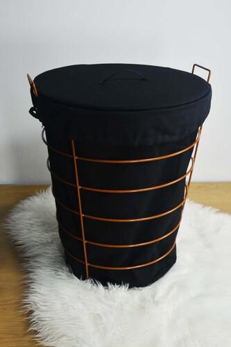 - Linen - Metal Çamaşır Sepeti Kahverengi
