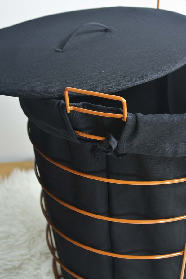 Linen - Metal Çamaşır Sepeti Kahverengi