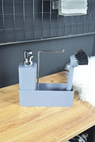 - Lotus - Fırçalı Standlı Sıvı Sabunluk Gri