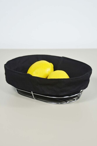 - Metal Ekmeklik Siyah Bezli Oval
