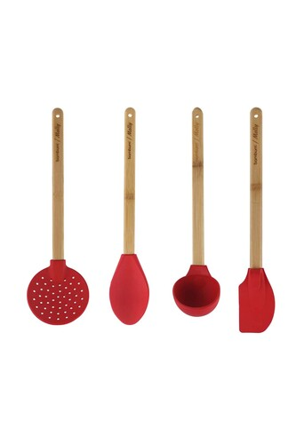 - Molly - 4 Parça Mutfak Seti Kırmızı