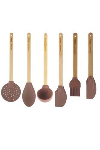 - Molly - 6 Parça Mutfak Seti Kahverengi