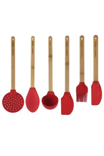 - Molly - 6 Parça Mutfak Seti Kırmızı