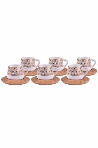 - Nakkaş - 6 Kişilik Kahve Takımı Altlıklı