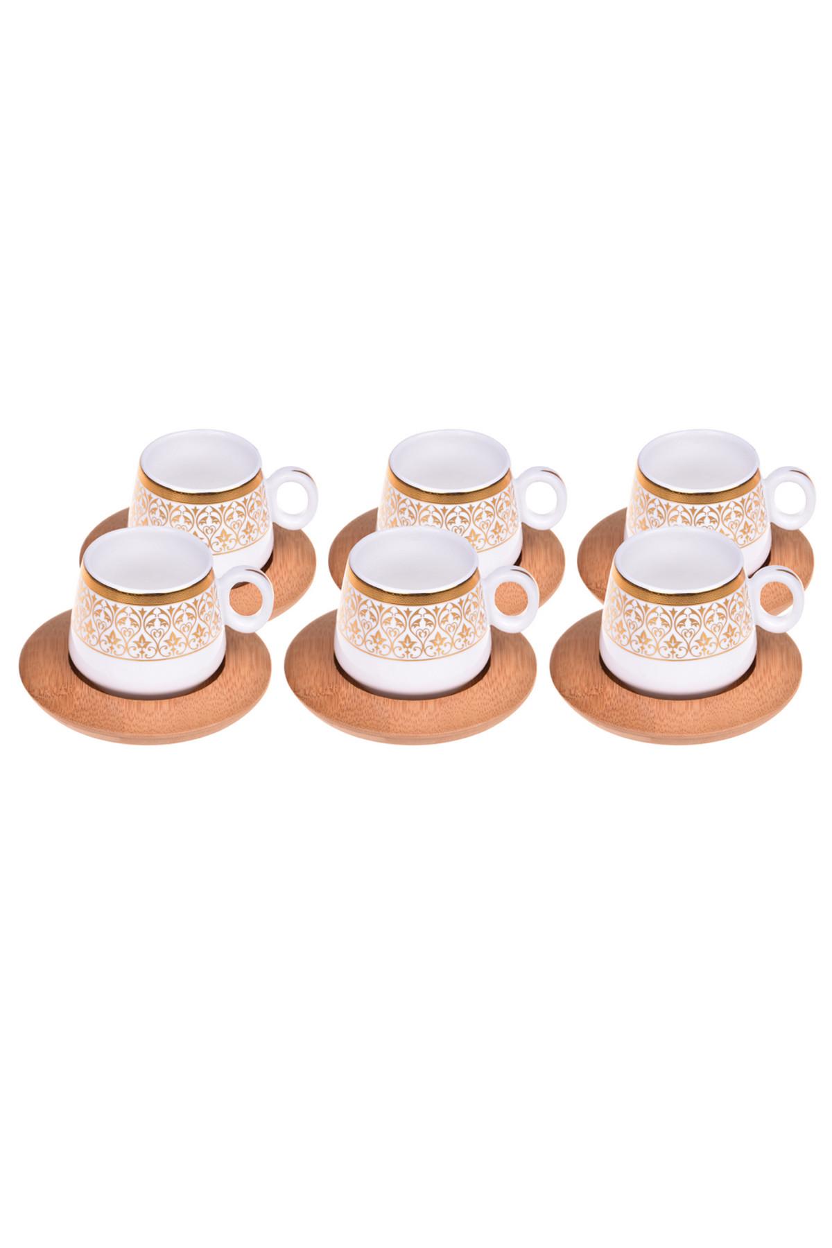 Sepetcibaba - Ottoman - 6 Kişilik Kahve Takımı Desenli