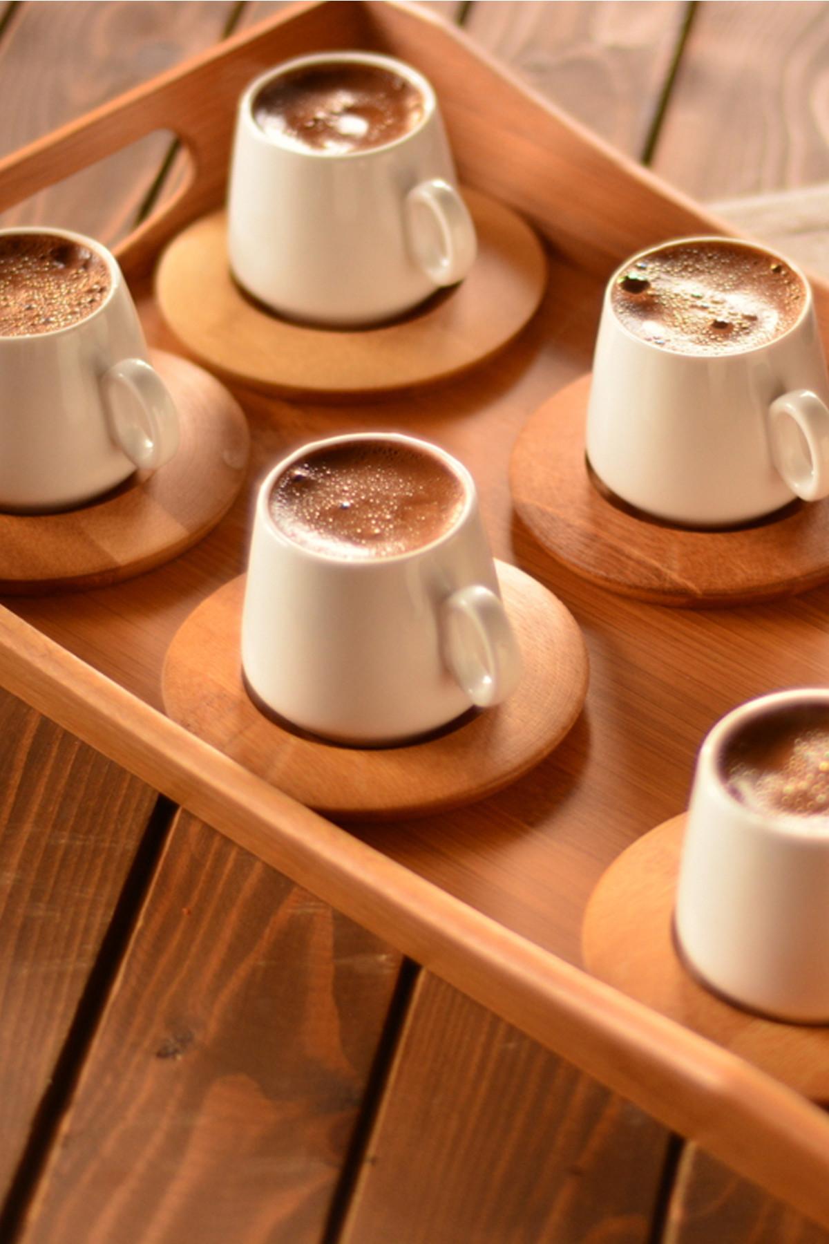 Sepetcibaba - Ottoman - 6 Kişilik Kahve Takımı Sade