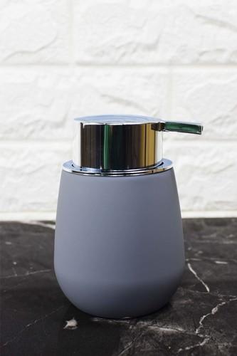 - Oval Akrilik Sıvı Sabunluk Gri