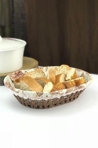 Sepetcibaba - Oval Hasır Ekmeklik