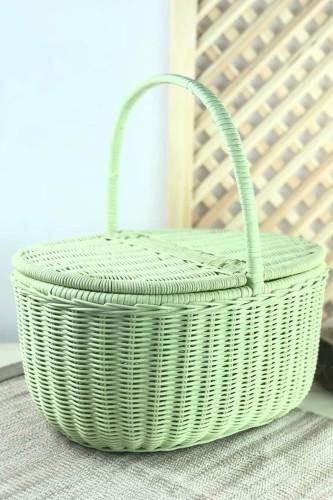 Sepetcibaba - Piknik Sepeti Büyük Boy Yeşil