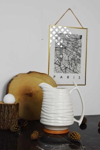 - Porselen & Bambu Sürahi
