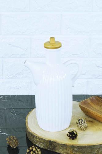 - Porselen Bambulu ÇizgiYağlık Beyaz