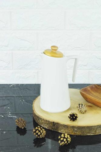- Porselen Bambulu Yağlık Beyaz