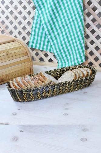 - Rattan Hasırı Ekmek Sepeti