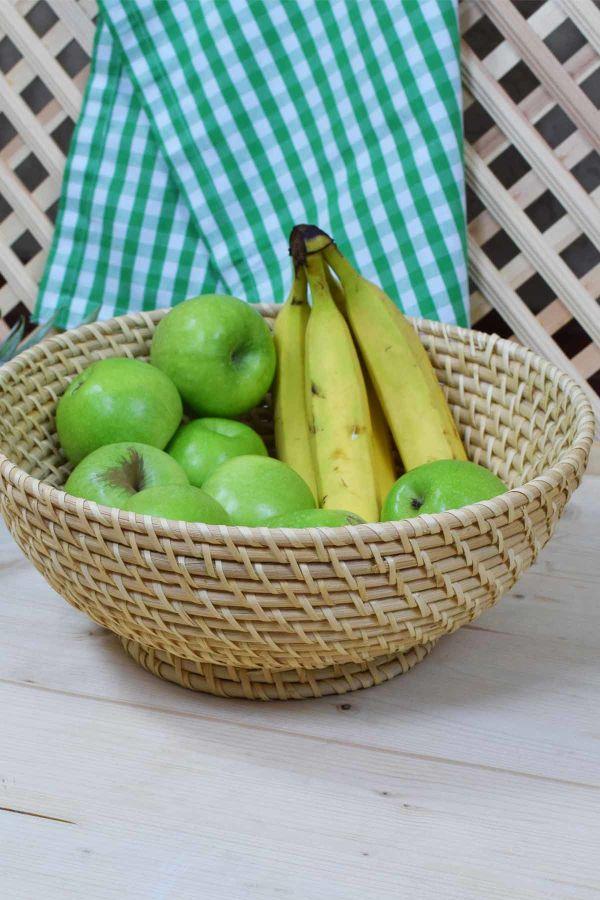 Rattan Hasırı Meyve Kasesi