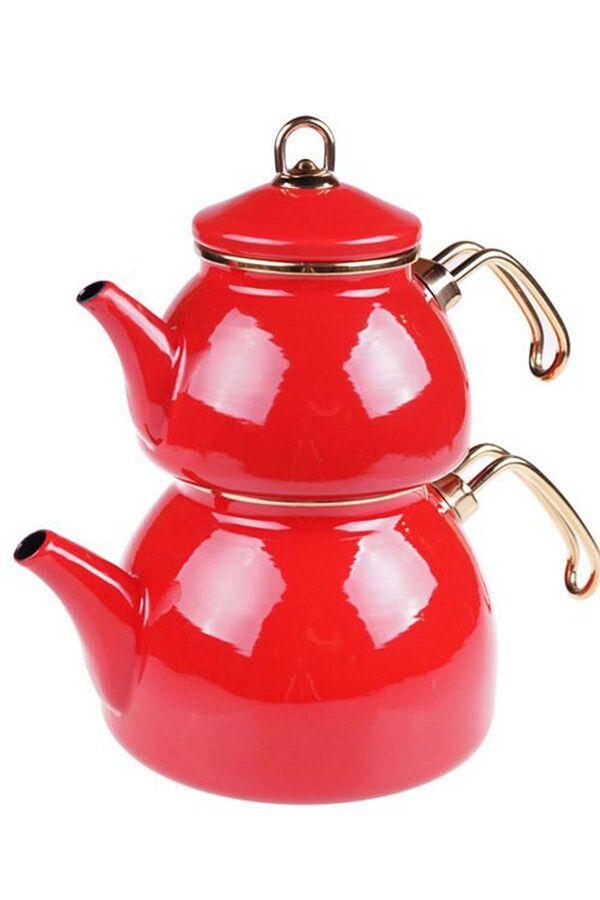 Şehzade - Çaydanlık Takımı Kırmızı