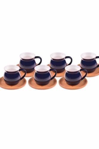 - Selam - 6 Kişilik Kahve Fincan Takımı Mavi