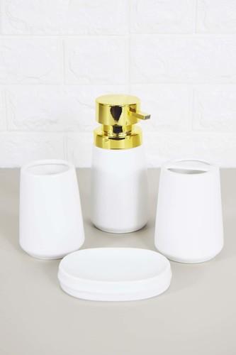 - Sepetçibaba 4 Lü Banyo Seti Beyaz