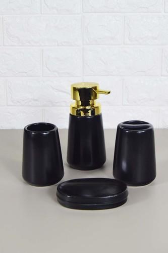 - Sepetçibaba 4 Lü Banyo Seti Siyah