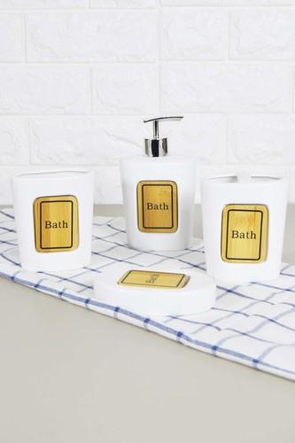- Sepetçibaba 4 Lü Bath Banyo Seti Beyaz