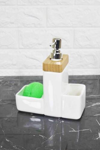 - Sıvı Sabunluk Porselen Bambulu