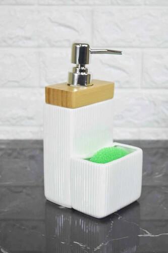 - Sıvı Sabunluk Süngerli Beyaz