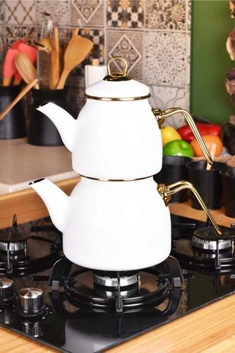 - Sultan - Çaydanlık Takımı Krem
