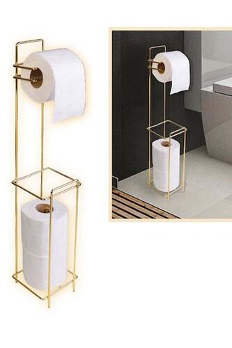 - Tuvalet Kağıtlığı Yedekli Gold